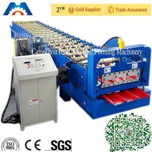 PBR / PBU Roofing Sheet Roll Forming Machine PLC Control Hydraulic Cutting