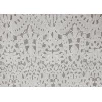 120cm Wide Polyester Water Soluble Lace Fabric , Eyelet Vintage Lace Fabric