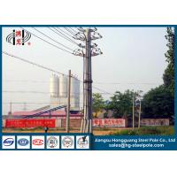 China Zinc Coated 69 KV Transmission Line Tubular Steel Poles With ISO Certificate wholesale
