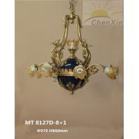 China High End Chandelier Pendant Lights 5 Stars Hotel Yellow Branched Lighting Fixture With Enamel wholesale