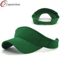 China Deluxe Green Tennis Sun Visors Heavy Brushed Cotton for Unisex wholesale