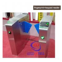 China Passage optical Flap Barrier Gate , bi directional Bus half height turnstile sound Alarm wholesale