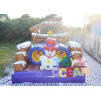 China 0.55mm PVC 12 * 4 * 5 Snowman Obstacle Course Inflatable Rentals For Kids wholesale