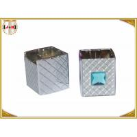China Distinct Twist Off Zinc Alloy Perfume Bottle Caps Gunmetal Square Shape wholesale