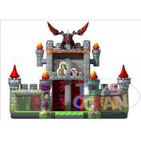 China Giant Inflatable Playground Slide Dragon Moster Castle Playground With Slide For Rental wholesale