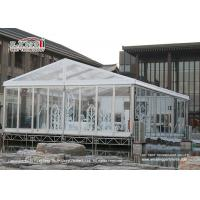 China 200 People Transparent Marquee Tent / Waterproof Event Tent A Shape Style wholesale