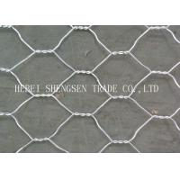 China Green / Grey PVC Coated Gabion Wire Mesh Low Carbon Steel For Protection wholesale