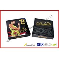 Buy cheap 1.5MM Cardboard Golden Foil Cigar Gift Box , Magnetic Electric Cigarrettes Packing Boxes from wholesalers