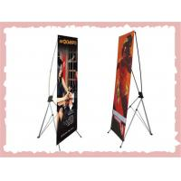 Quality Retractable X Frame Banner Stand , Full Color Printing Trade Show Banner Stands for sale