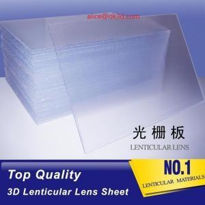 China 3D Plastic Lenticular Lens Sheet 20 LPI flip lenticular effect thickness 3 mm for injekt and digital printer Vietnam wholesale