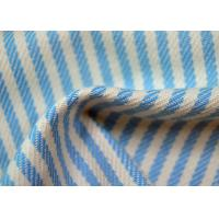 China Yarn Dyed Cotton Fabric / Blue And White Striped Fabric Custom Made Color wholesale