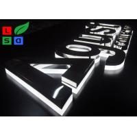 China Half Lit LED Channel Letter Signs 2835 SMD LED Source With Polished Stainless Body wholesale