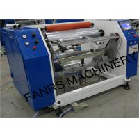 China Semi-automatic Aluminum Foil Roll Rewinding Machine For Small Foil Roll Kitchen Use Food Packaging on sale