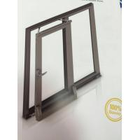 China Thermal Break Tilt and Sliding Aluminium Window Profiles with Brown Color wholesale