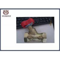 China DN32 Manual Water Balancing Valve Brass Body Handwheel Operated Yellow Color wholesale