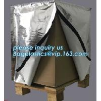 China Reflective Bubble Foil Blanket for pallet cover, Thermal insulated pallet cover aluminum foil insulation bag container f on sale
