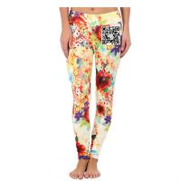 China Custom dry-fit printed woman tights leggings for running/yoga/gym wholesale