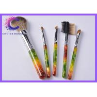 Quality Luxury gift Cosmetic 5 piece makeup brush set with Hot stamping , silkscreen logo for sale