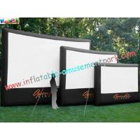 China Professional Outside Inflatable Movie Screen With 0.55mm PVC Tarpaulin wholesale