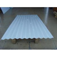 Quality Exposed Fastener 12 ft Aluminum Roofing Sheet Panel White / Blue ISO 9001 for sale