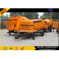 Quality 0.6M3 Hopper Volume Diesel Concrete Pump PLC Control With Air Cooling System for sale