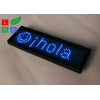 China Rechargable Blue Red Yellow Programmable LED Name Badge Sign In Worldwide Languages wholesale