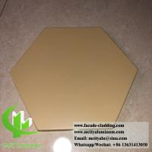 Quality Hexagon Panel External Wall Cladding , Aluminium Panel Sheet 1.5mm Thickness for sale