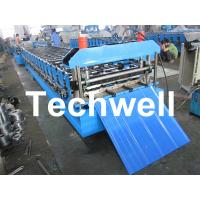 China Metal Automatical Roof Panel Cold Roll Forming Machine with 0 - 15 m/min Speed wholesale