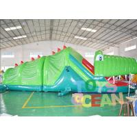 China Green Inflatable Crocodile Bouncer Tunnel Inflatable bounce house rentals Combo For Rental wholesale