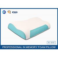 China Wave Memory Foam Contour Pillow , Orthopedic Sleeping Pillow With Zipper Cover wholesale