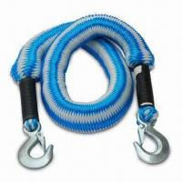 China Metal Clip Hooks Elasticized Towing Rope, Available with Maximum Weight of 2,500kg wholesale