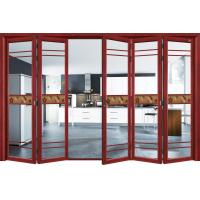 Quality Commercial Exterior Double Folding Doors / Aluminium Folding Patio Doors for sale