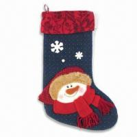 China Christmas Stocking, Measures 45cm, Available in Red wholesale