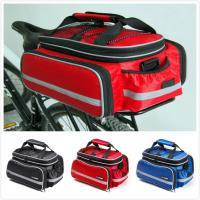 China Rear Rack Bike Trunk Bag Double Side , Hand Luggage Bags For Short Trip Vehicle Carrying wholesale