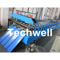 China Metal Roofing Sheet Cold Roll Forming Machine with Hydraulic Post Cutting wholesale