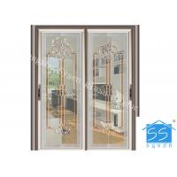 China Bevel Clear Sliding French Patio Doors , Safety French Glass Sliding Patio Doors wholesale