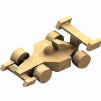China Children's wooden racing car toy, made of pine wood wholesale