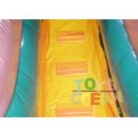 Quality Yellow Jungle Inflatable Water Slide With Pool For Kids , Bounce House Water for sale