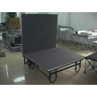 China Black Portable Stage Platforms For Mini Show Temporary Stage Platforms wholesale