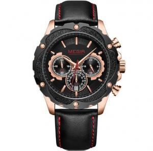 Quality Wholesale Megir Fashion Men Multifunction Chronograph Casual Wrist Watches 3 Atm for sale