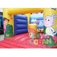 Quality Yellow Indoor Playground With Bouncy Castle / Mini Jumping Castles For Rent for sale