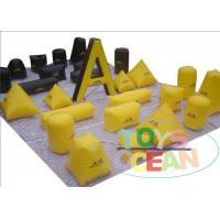 China Big Outdoor Inflatable Paintball Bunkers War Game For Adults 0.9MM PVC wholesale