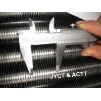 China Wrapped L Footed Fin Tube Steel Pipe , Seamless Tension Wound Finned Tubes on sale