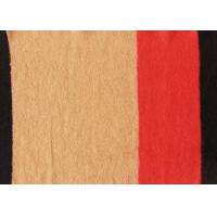 Multicolor Positioning Pattern Knitted Double Faced Wool Fabric For Woolen Coat