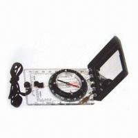China Map Compass with Scale and Silicone Feet wholesale