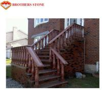 China Customized Size G562 Maple Red Granite For Natural Stone Porch Columns on sale