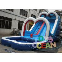 China White Inflatable Backyard Water Slide For Pool / Safe Inflatable Sports Games wholesale