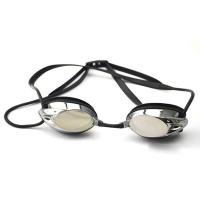 China Professional Black Racing Swimming Goggles With Back Locked Strap For Adult wholesale