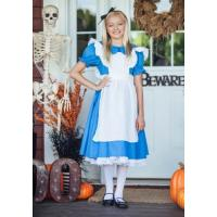 China Teen Girl Halloween Costumes Child Deluxe Alice Dress for Party wholesale
