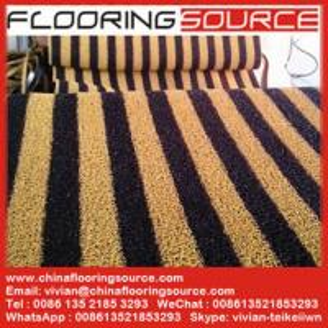 China PVC Cushion Coil Mat Pvc Looped Floor Mat anti-slip wet areas dirt stop door mat wholesale